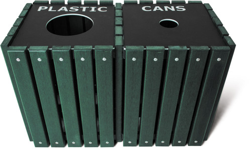 40 Gallon Ultra Site Square Recycling Station TRSQ40 (Many Options, 5 Colors)