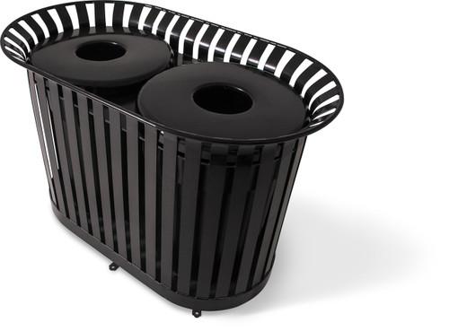 72 Gallon Ultra Site Lexington Outdoor Dual Trash Container LX72 (8 Colors)