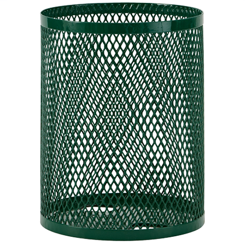 32 Gallon Ultra Site Metal Mesh Street Park Trash Can Green