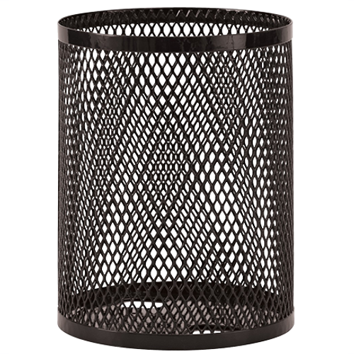 32 Gallon Ultra Site Metal Mesh Street Park Trash Can Black