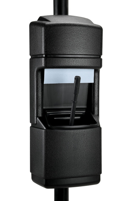 Pole or Wall Mount Windshield Service Center 750801 Black