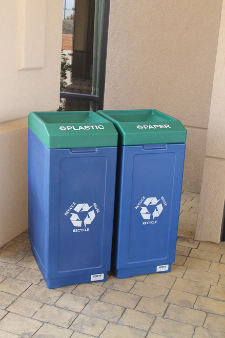 39 Gallon Forte 2 Color Open Top Recycling Container 8002480
