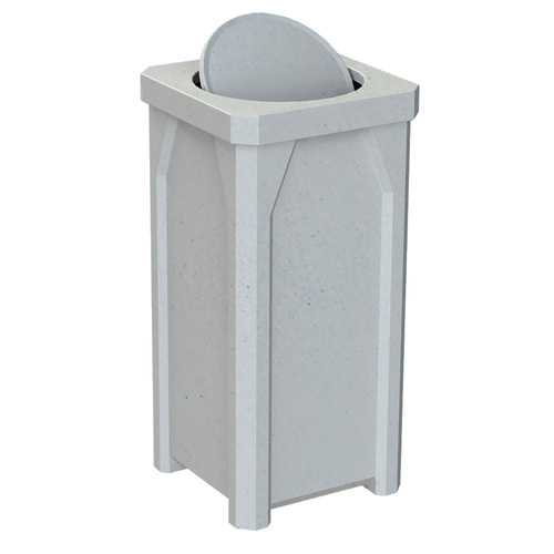 22 Gallon Swivel Lid Kolor Can Square Bathroom Trash Can S7901A-02 LIGHT GRANITE