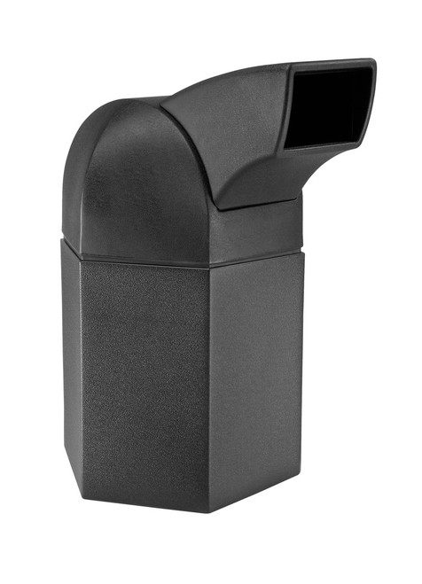 45 Gallon Hexagon Indoor Outdoor Garbage Can with Drive Thru Chute 73800199