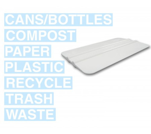 Complete Decal Kit (White) for Metro Collection Recycle Bins RC-MTR DECAL WHT