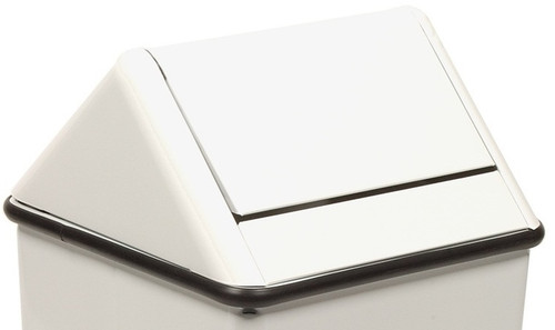 19 x 19 Metal Painted Swing Top LID ONLY for 1511HT White