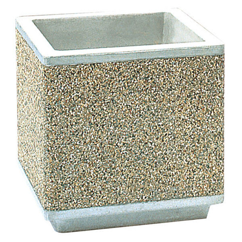Outdoor Square Concrete Planter TF4190 Exposed Aggregate