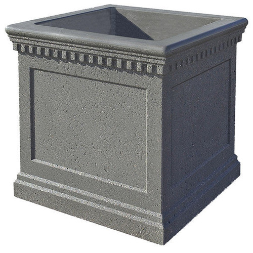 24 x 24 x 20 Colonial Outdoor Square Concrete Planter TF4236
