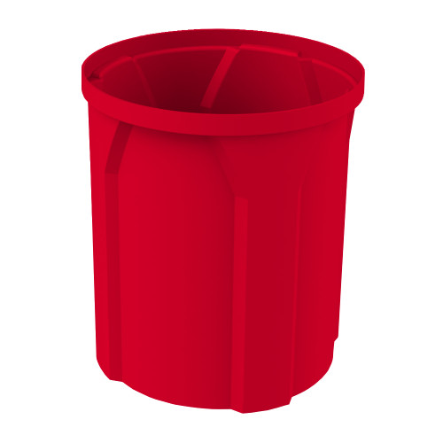 42 Gallon Kolor Can Round Plastic Utility Trash Receptacle S7100-00 RED