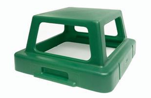 20.5 x 20.5 Four Way Open Plastic Lids TF1407 for Square Trash Cans (Many Colors)