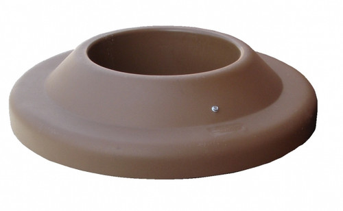 27 Inch Plastic Pitch In Lid for TF Round Concrete Trash Cans Red Brown