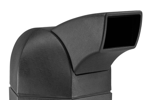 Drive Thru Chute Lid 737401 for Hexagon Plastic Outdoor Garbage Can
