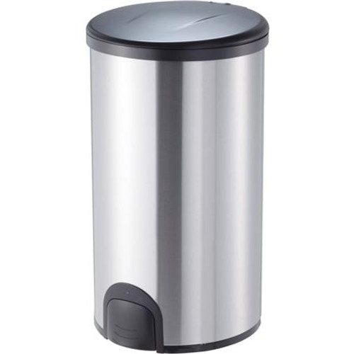 12 Gallon Steel Toe Tap Dog Proof Kitchen Trash Can TTT-45-8