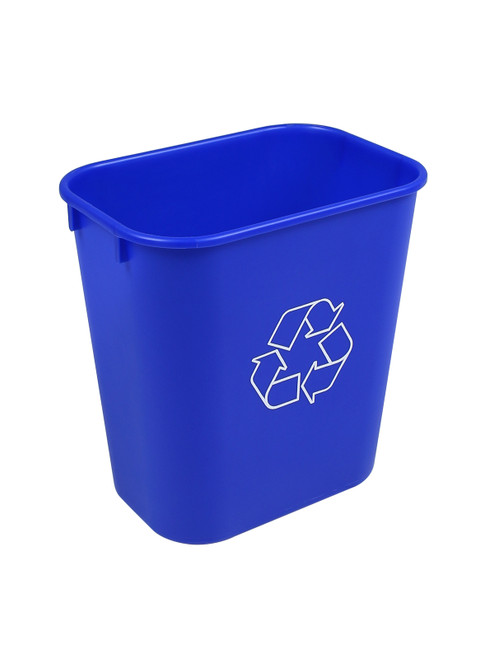 14 Quart Gallon Plastic Office Desk Side Recycling Wastebaskets Blue 14Q-BL (30 Pack)