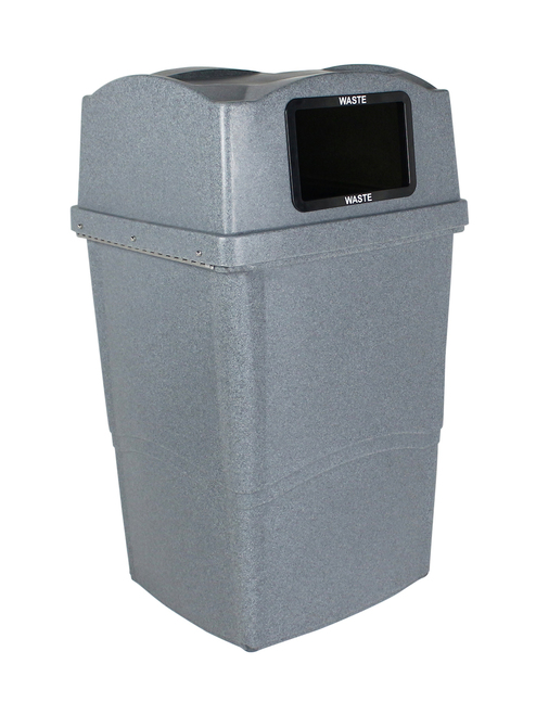 45 Gallon Plastic Wave Solo Cafeteria Trash Can 8121000-4