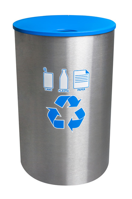 45 Gallon High Capacity Recycling Bin for Indoor Outdoor Use RC-2234F SS