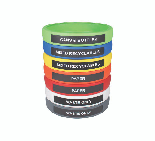 Infinite Elite Bands for Infinite 90201 Recycling Bin (7 Colors, 8 Message Choices)