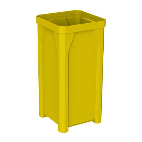 22 Gallon Kolor Can Square Plastic Utility Trash Receptacle S7900-00 Yellow NO LID