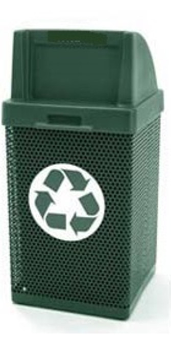 38 Gallon Square Metal Mesh Custom Logo Push Door Trash Can CLMF3052
