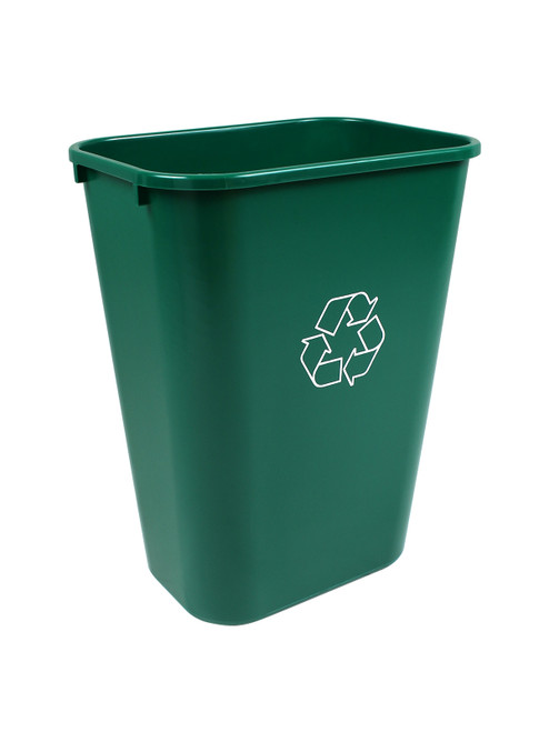 41 Quart Green Recycling Bin Waste Basket 41QGRN