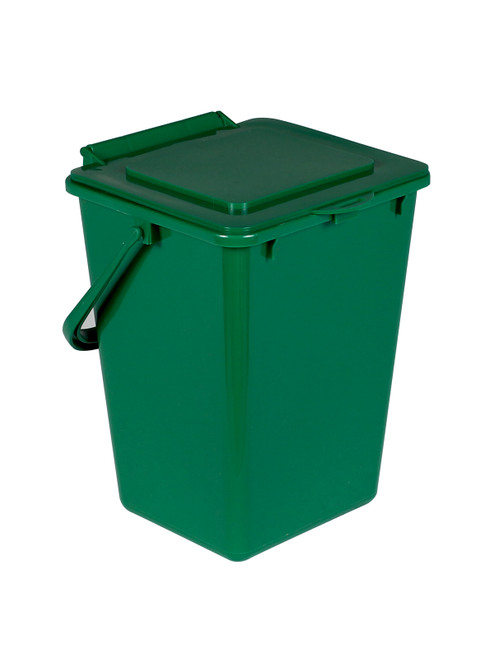 2 Gallon Green Kitchen Composter for Food Scraps Solid Lid