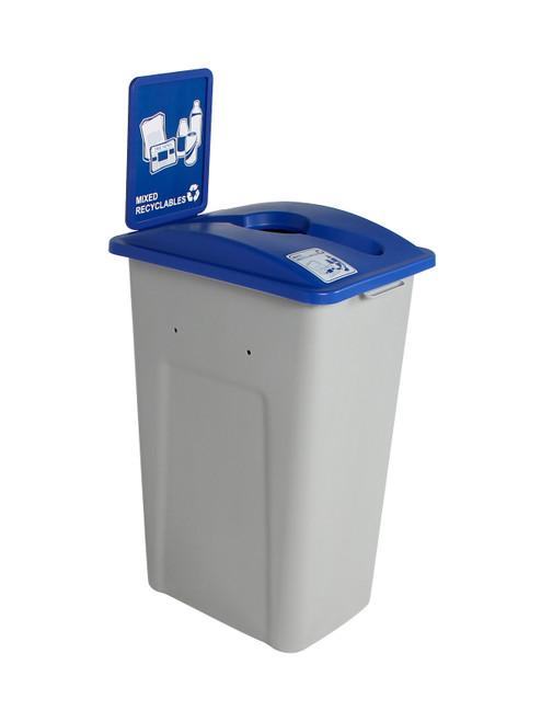 32 Gallon Plastic XL Simple Sort Single Home & Office Recycling Bin WWXL (4 Colors)