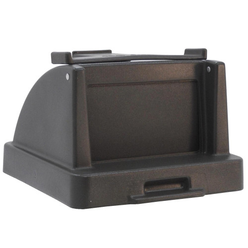 25 x 25 Lid with Tray Caddy TF1430/TF1415 for Square Trash Cans (Many Colors)
