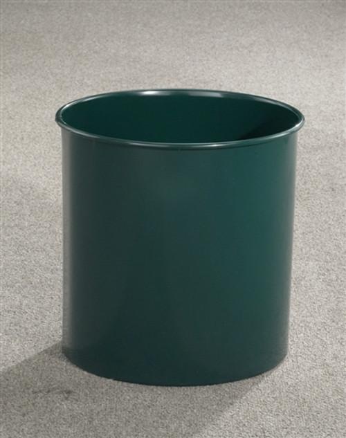 18 Gallon 15 x 23 Open Top Office Wastebasket Hunter Green