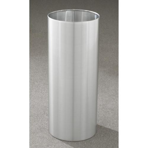 11 Gallon 12 x 23 Open Top Office Wastebasket Satin Aluminum
