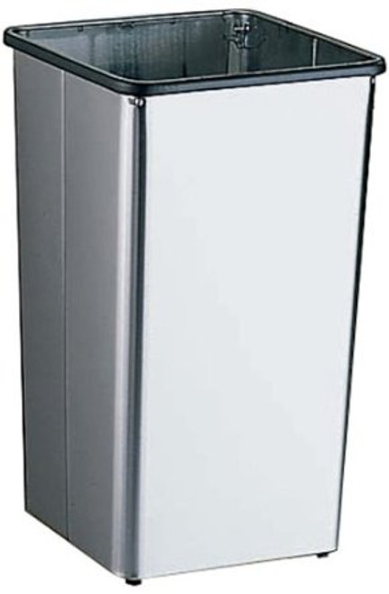 21 Gallon Metal Stainless Steel Square Trash Can Base 21HSS