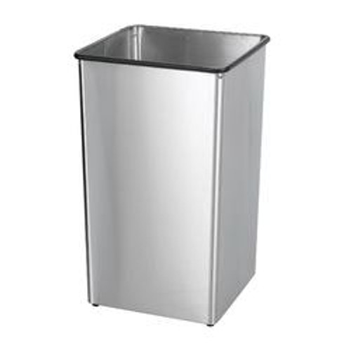 36 Gallon Painted Metal Square Trash Can Base 36H (3 Color Choices)
