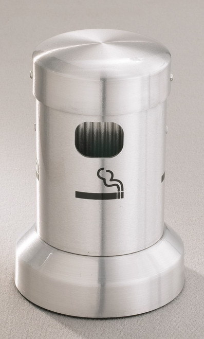 4405SA Satin Aluminum Tabletop Deluxe Smokers Ashtray