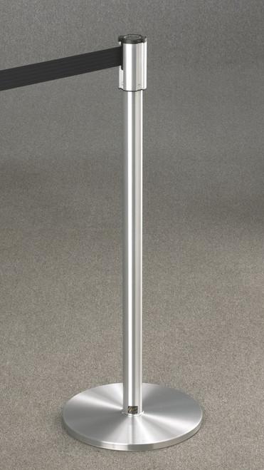 132 Extenda-Barrier Satin Aluminum Retractable Crowd Control Barrier