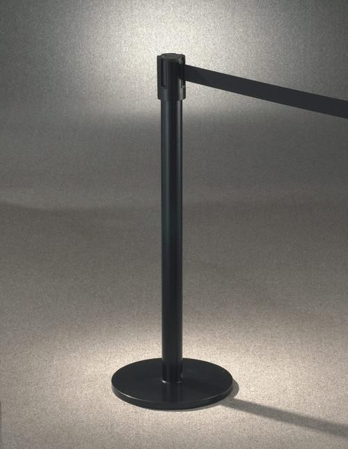 152 Extenda-Barrier Satin Black Retractable Crowd Control Barrier