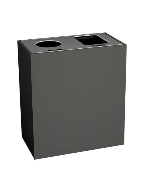 2 Stream 43 Gallon Aristata Tier 2 Recycling Bin 90927 Slate, Circle, Full Openings