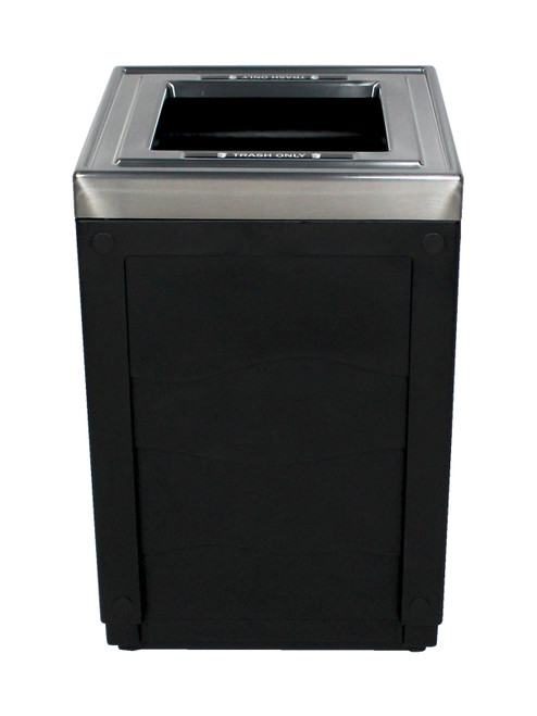 50 Gallon Evolve Series Cube Trash Can or Recycling Bin