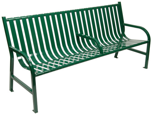 6 Foot Oakley Outdoor Slatted Bench with Center Arm M6-BCH-ARM