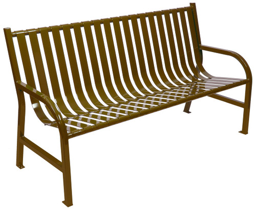 Witt Industries Oakley Outdoor Slatted Bench 5 Foot Brown