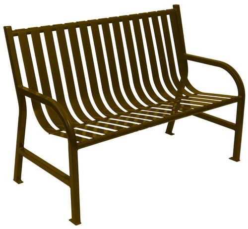 Witt Industries Oakley Outdoor Slatted Bench 4 Foot Brown