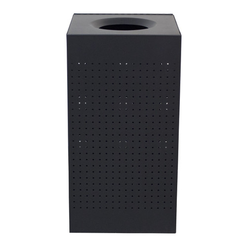 25 Gallon The Celestial CL25 Metal Indoor Trash Can Black