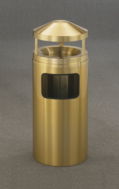 All Weather Brass 19 Gallon H2002BE Canopy Top Ash Trash Can