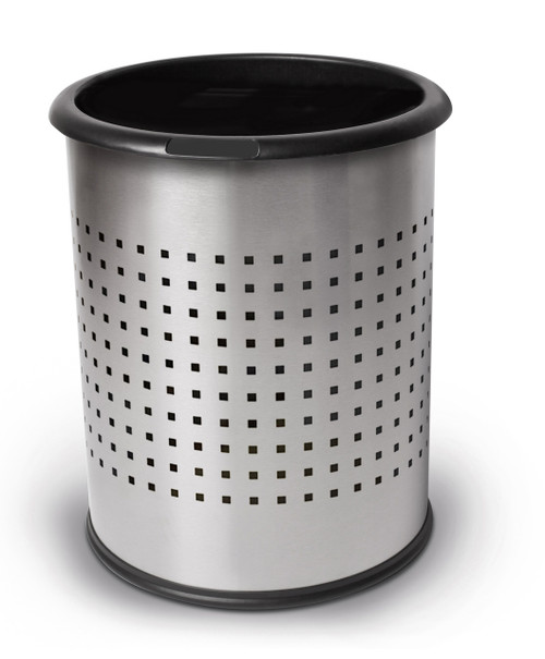 4 Gallon Stainless Steel Wastebasket Perforated Steel 785229