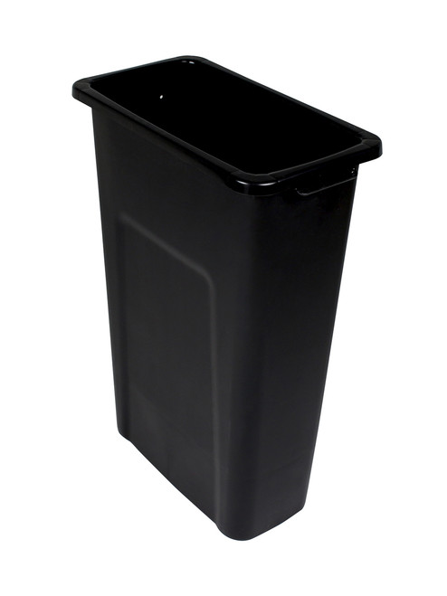 23 Gallon Skinny Plastic Home & Office Trash Can Black