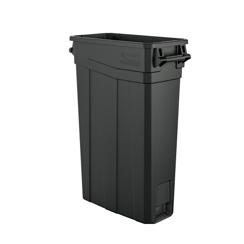 Skinny Plastic 23 Gallon Slim Trash Can with Handles TCNH2030
