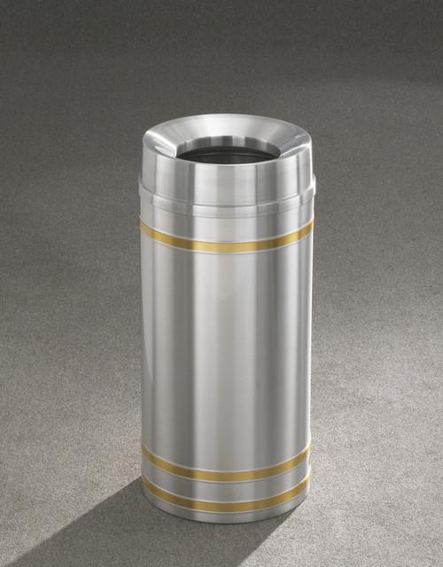 Capri F1534SA Funnel Top Trash Can Satin Aluminum