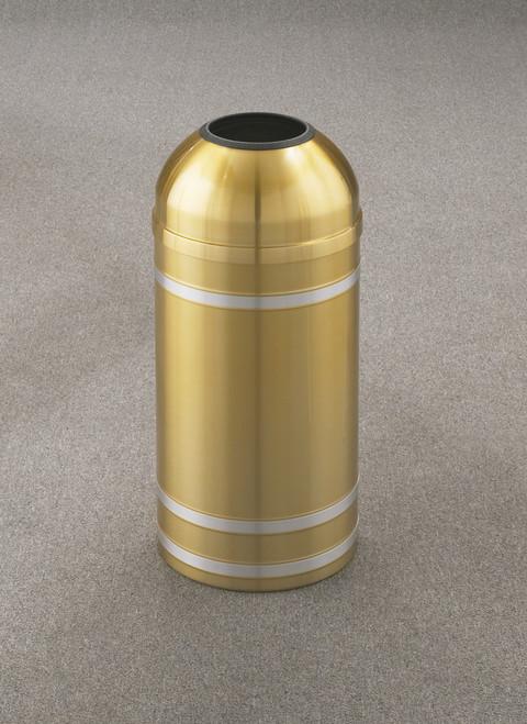 Capri T1234 Open Dome Top Trash Can Satin Brass