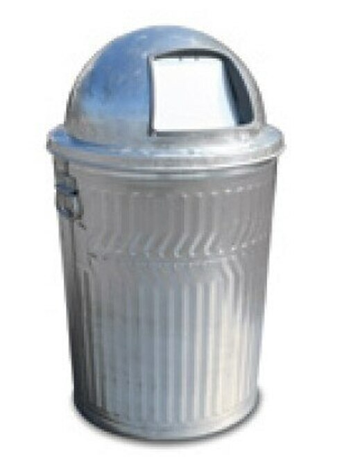 32 Gallon Heavy Duty Galvanized Trash Can with Push Dome Lid WHD32C/3434G