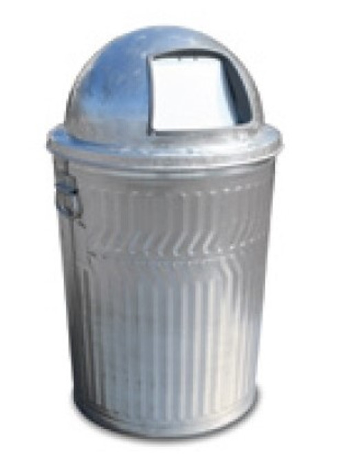 32 Gallon Light Duty Galvanized Trash Can with Push Dome Lid WCD32C/3434G