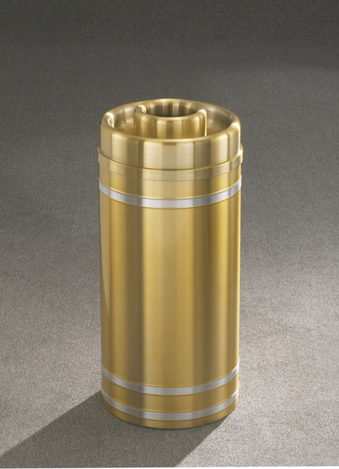 Capri D1534SA Donut Top Ash Trash Receptacle Satin Brass