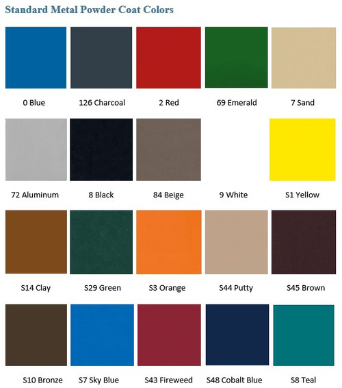 Metal Powder Coat Colors